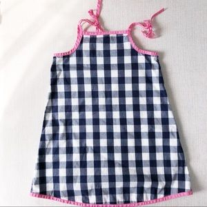 Hannah Andersson Navy checked sundress